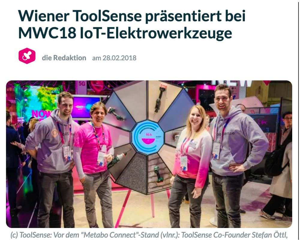 The Brutkasten: ToolSense presents IoT power tools at MWC18