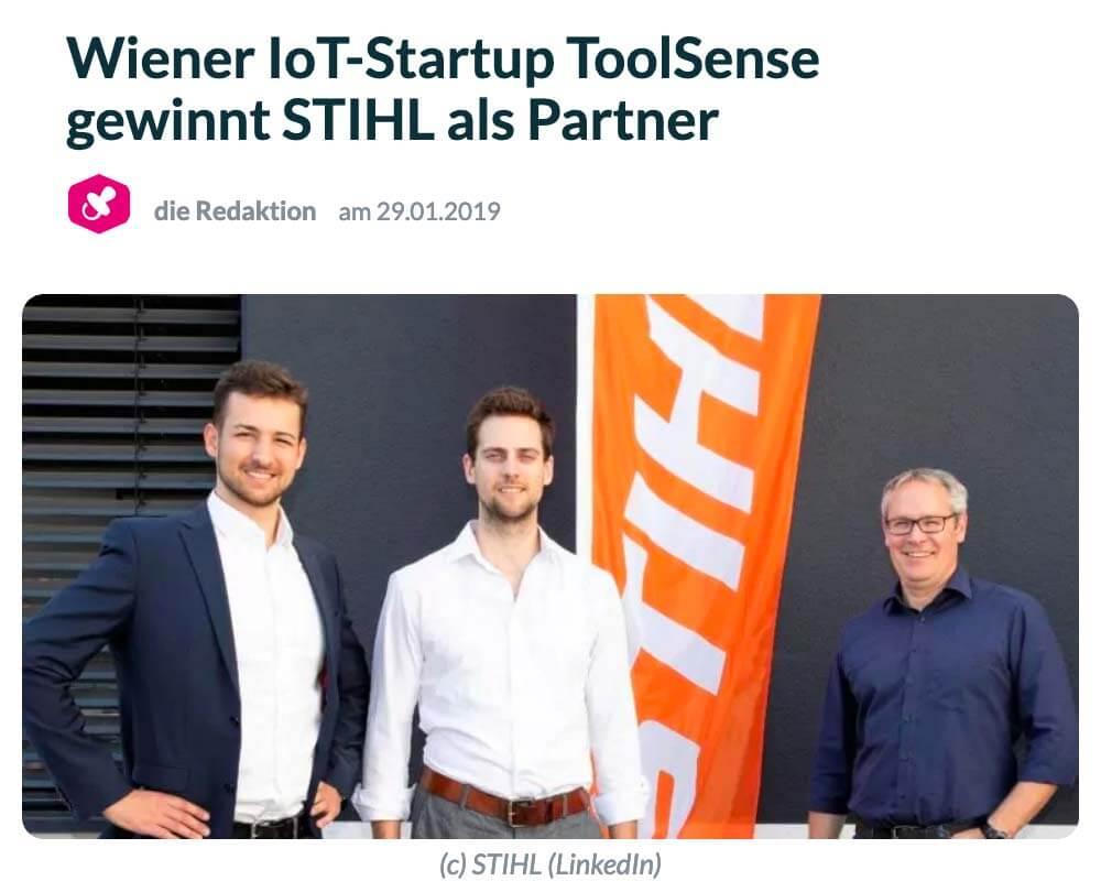 Der Brutkasten: Vienna IoT start-up ToolSense wins STIHL as partner
