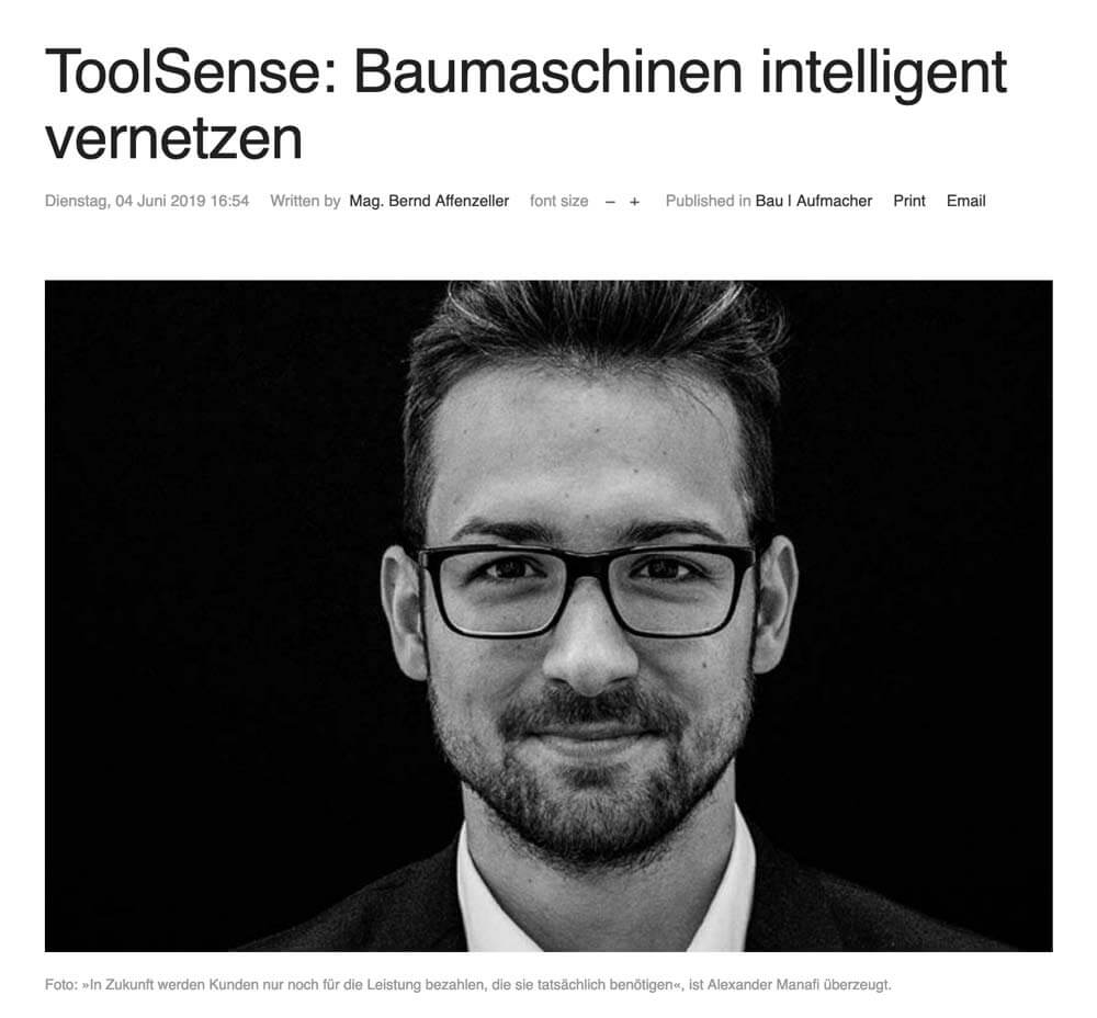 report.at: Baumaschinen intelligent vernetzen mit ToolSense