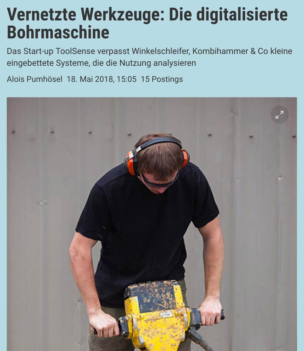 Der Standard: Networked tools: The digitalized drilling machine