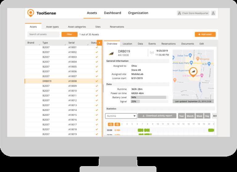 ToolSense Asset Management Screenshot 1